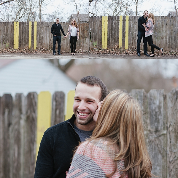 winter Clintonville engagement session