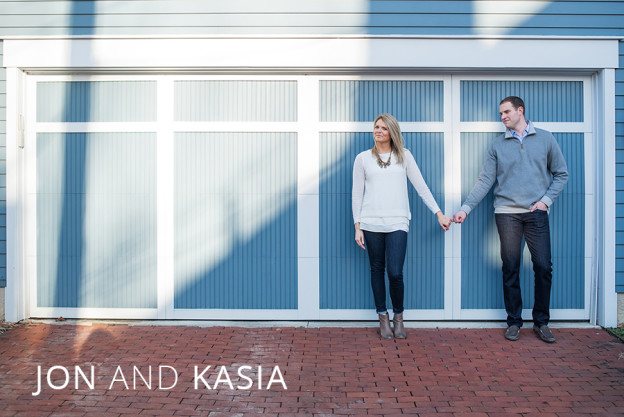 german village engagement session