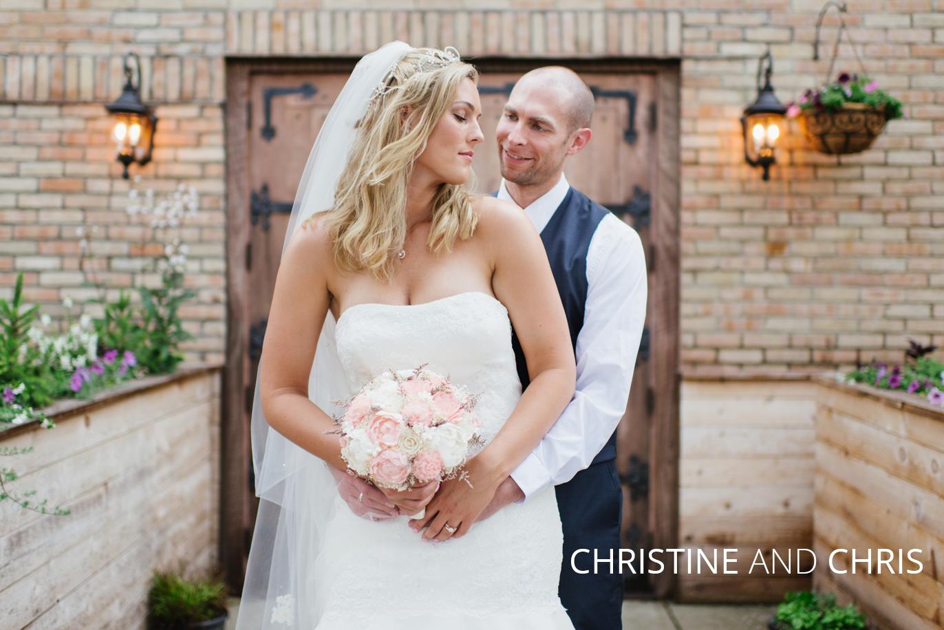 Christine and Chris rustic wedding