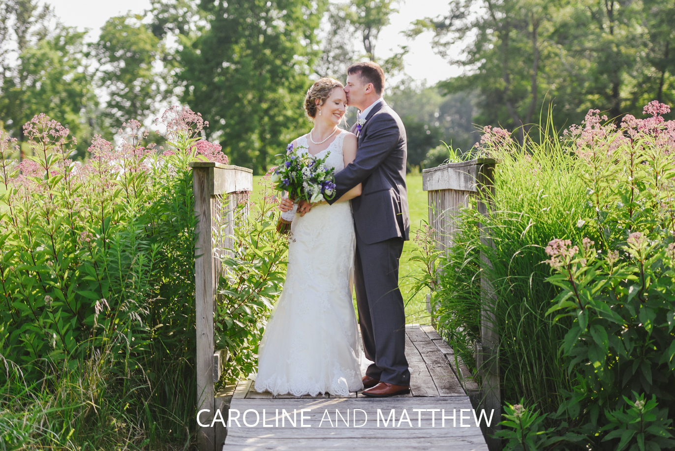 caroline and matthew on a bridge