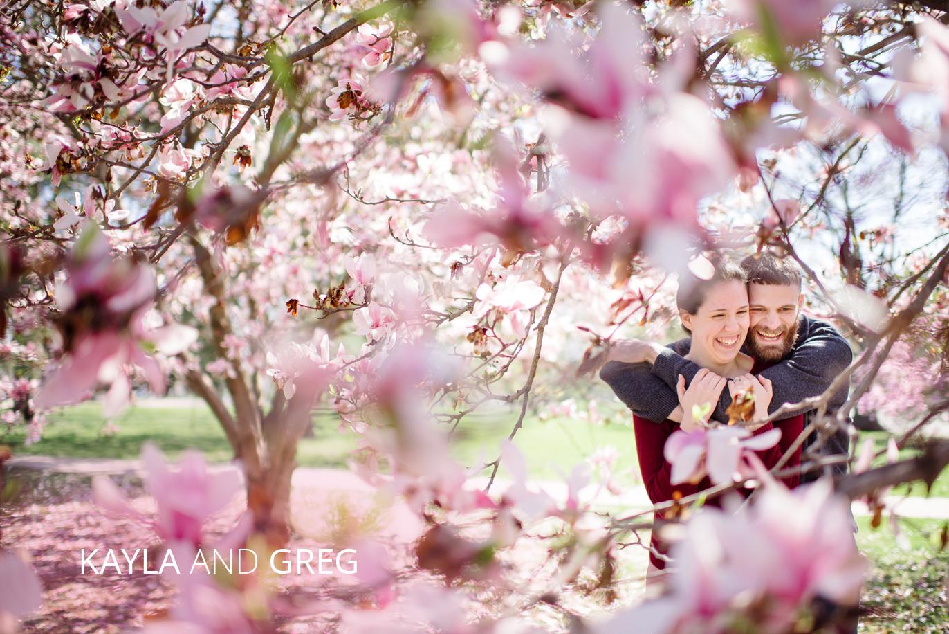 magnolia engagement photo