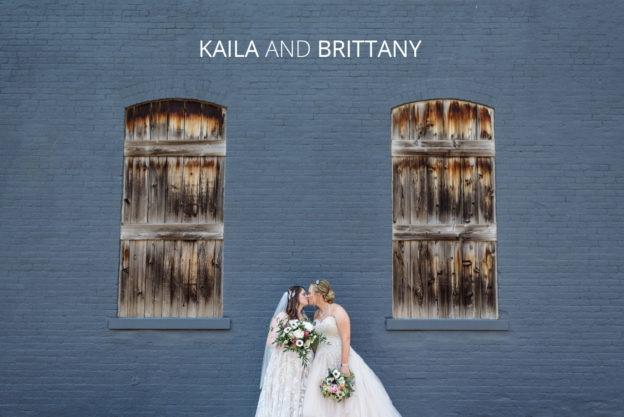 kaila and brittany and their downtown german village wedding