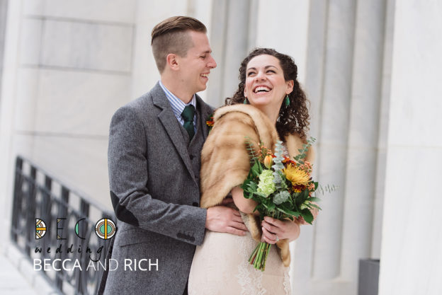 becca and rich featured on deco weddings