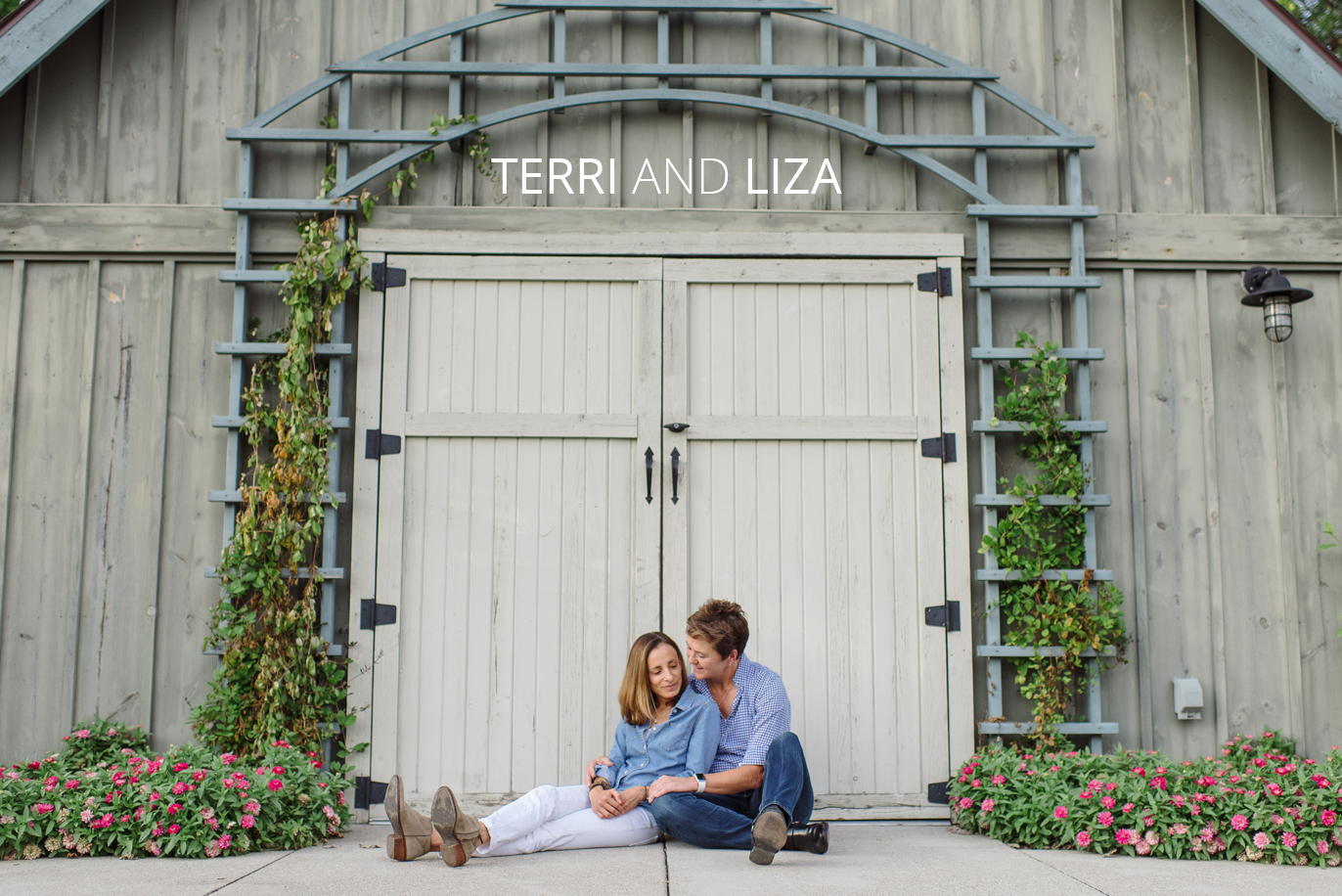 terri and liza's franklin park conservatory engagement