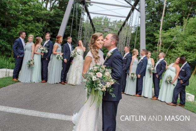 caitlin and mason's Findlay ohio wedding party