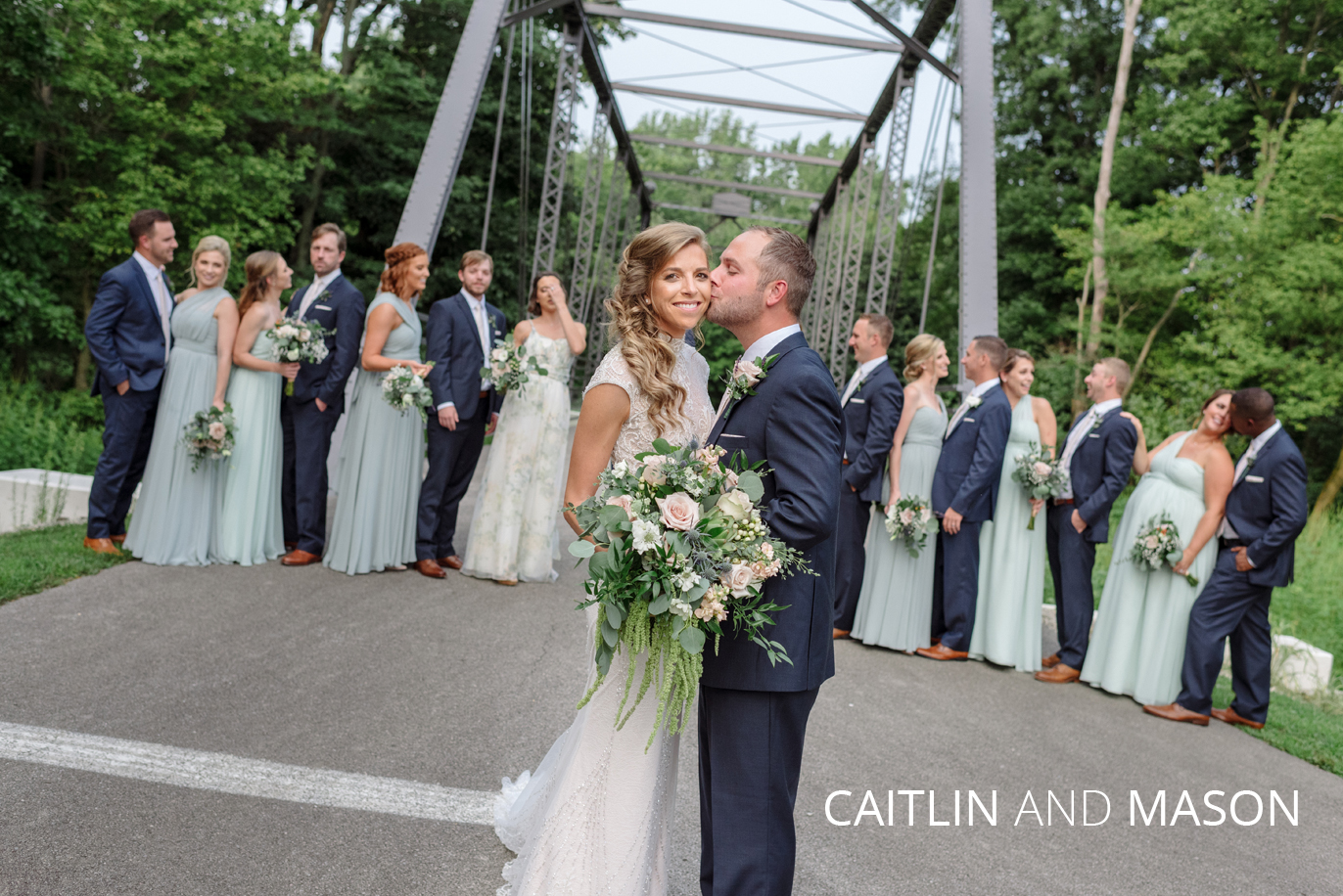 caitlin and mason's Findlay ohio wedding party