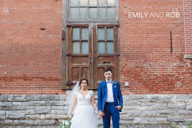 emily and rob published in brides and weddings