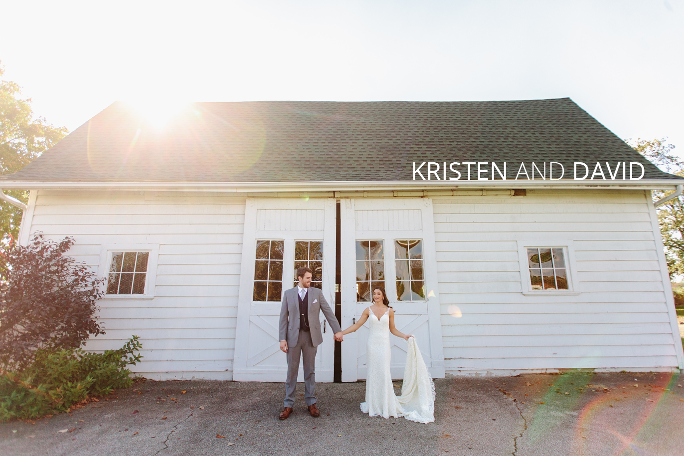 kristen and david getting married at the darby house