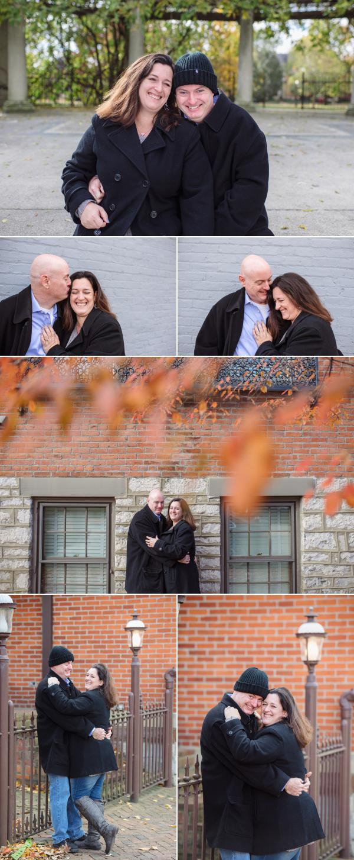 happy couple in german village