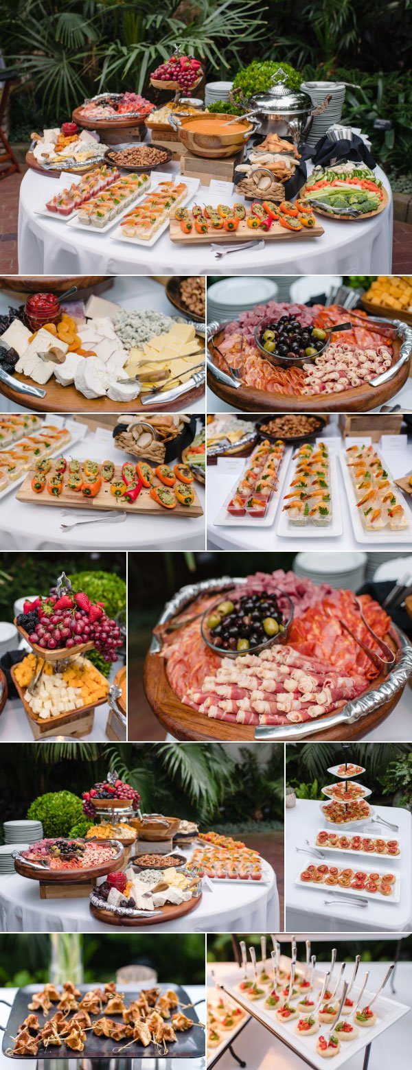 wedding food spread