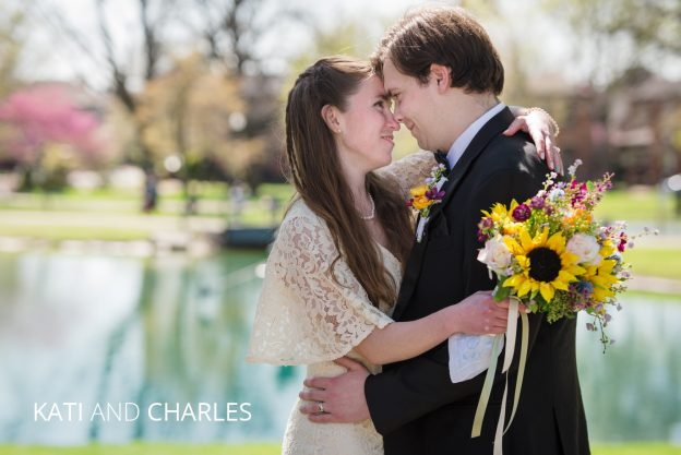 kati and charles elope in schiller park