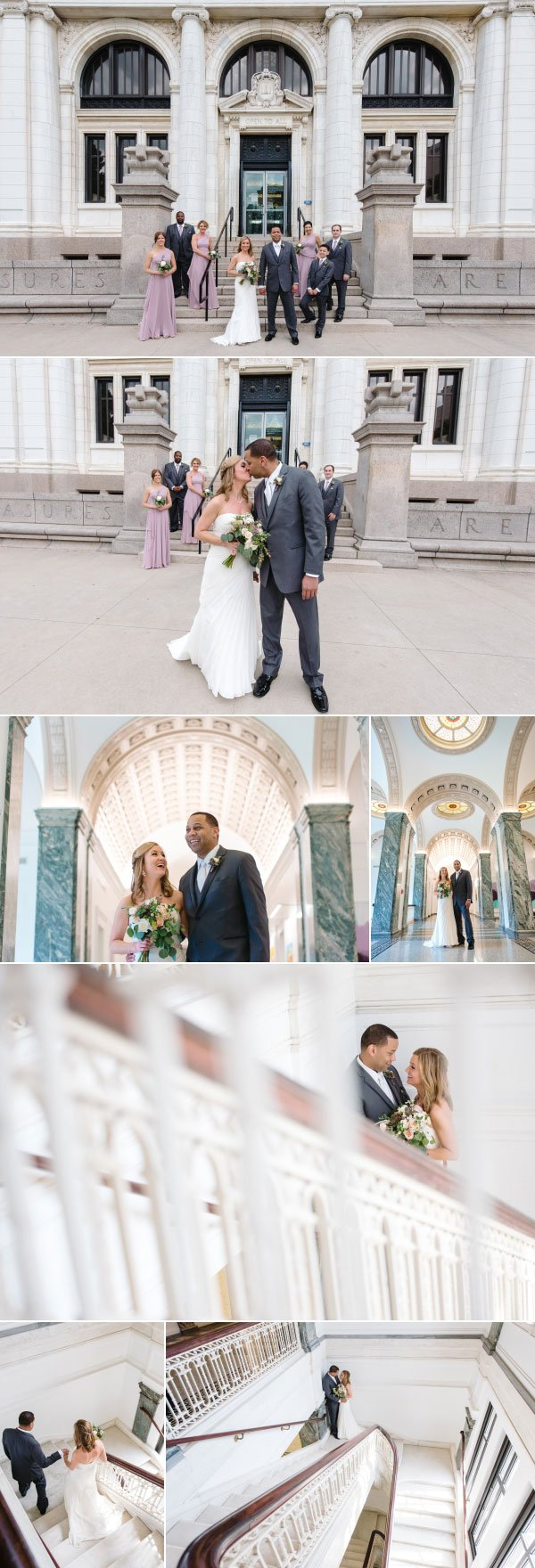 Downtown Columbus Library wedding photos