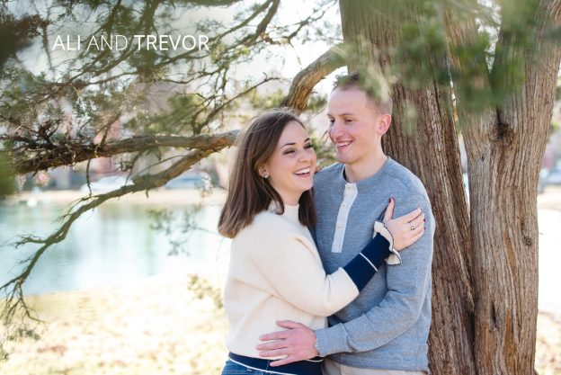 ali and trevor german village engagement